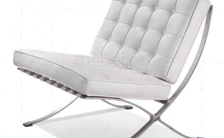 Barcelona Chair White Modecor Furnitures