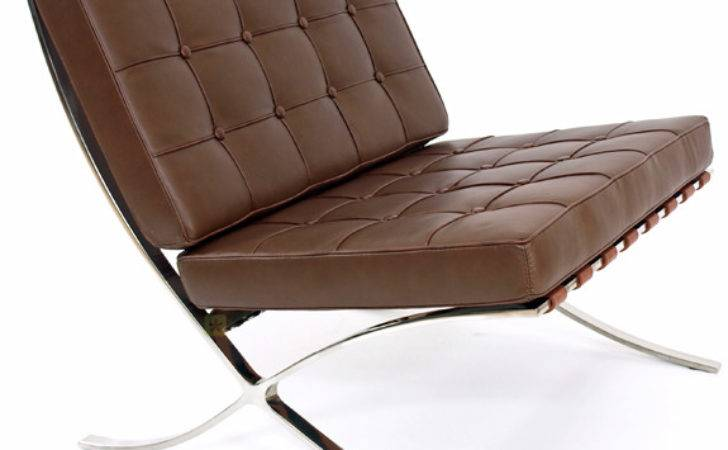 Barcelona Lounge Chair Brown Leather Mies Van Der Rohe Ebay