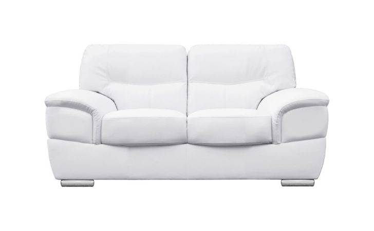 Barletta Italian Inpired White Leather Sofa Collection