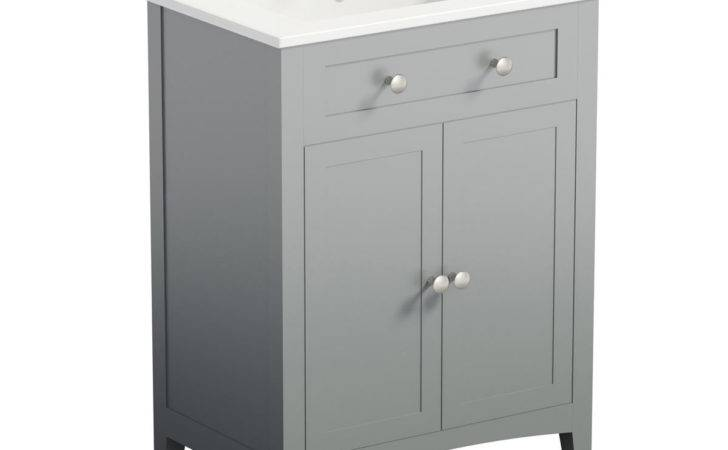 Bath Camberley Grey Vanity Unit Basin