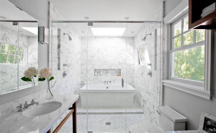 Bath Room Tub Wet Shower Interior Designs