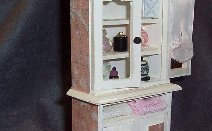 Bathroom Cabinet Shabby Chic Filled Treasuresfromtexas