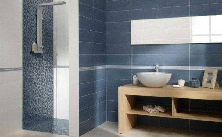 Bathroom Contemporary Tile Design Ideas Blue
