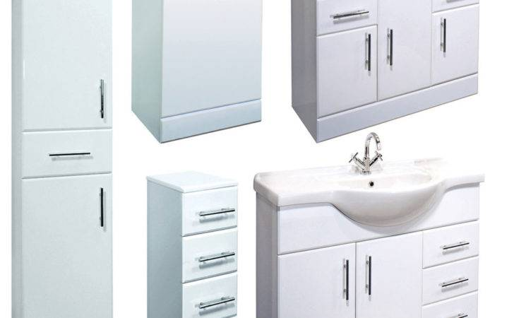 Bathroom Furniture High Gloss White Laundry Storage Drawer