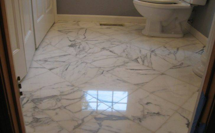 Bathroom Marble Floor Restoration Boxborough