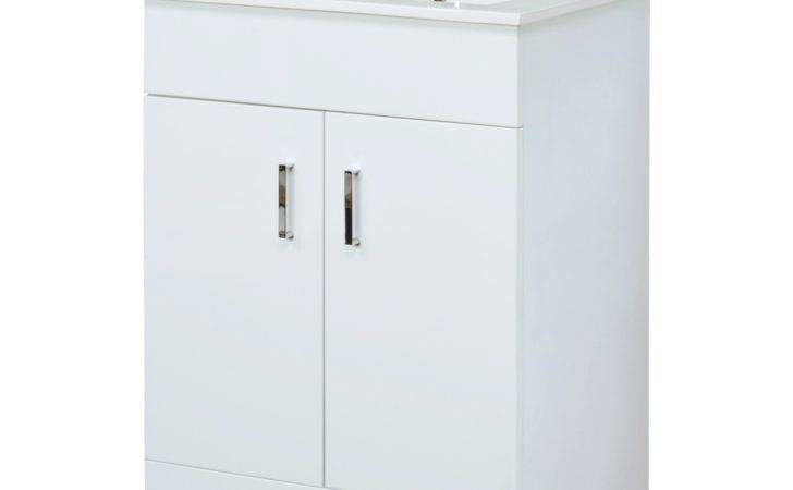 Bathroom Vanity White Gloss Unit Basin Sink Cabinet