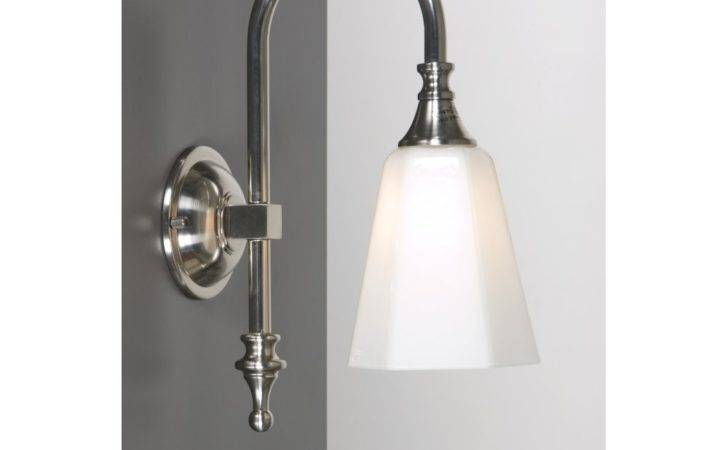Bathroom Wall Light Satin Nickel Traditional