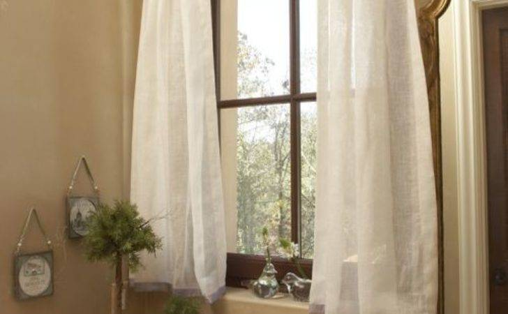 Bathroom Window Curtain Home Design Ideas