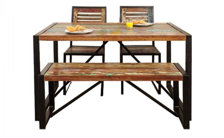 Baumhaus Urban Chic Small Dining Set Chairs Bench