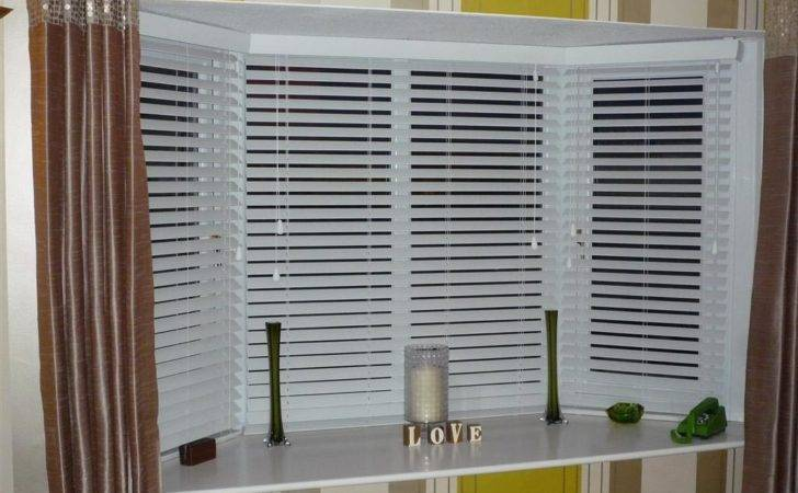 Bay Window Vertical Blinds Treatments Design Ideas