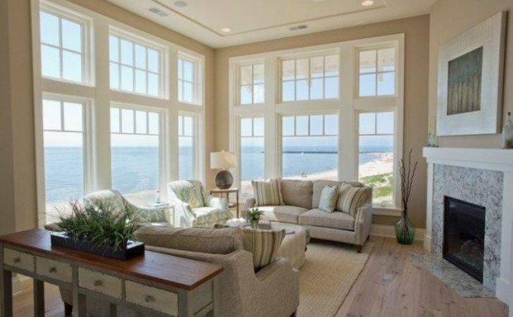 Beach Style Living Room Long Hairstyles