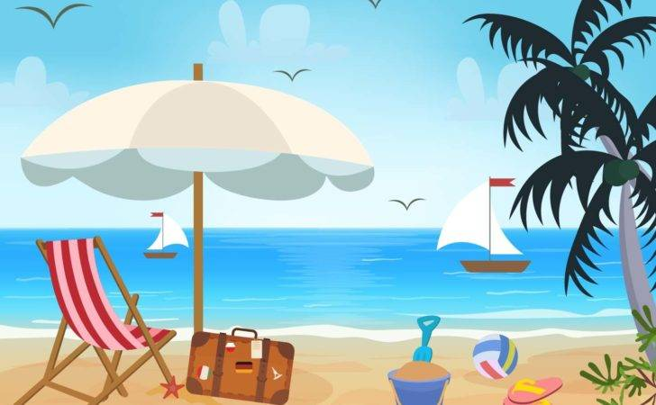 Beach Theme Vector Art
