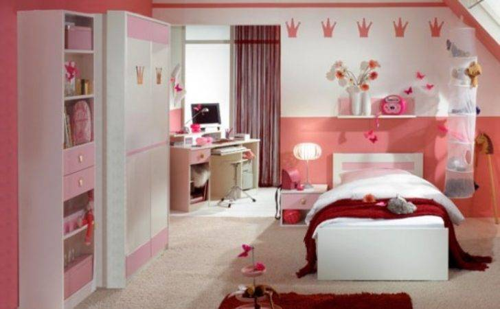 Beautiful Bedroom Girls Pink Color Theme