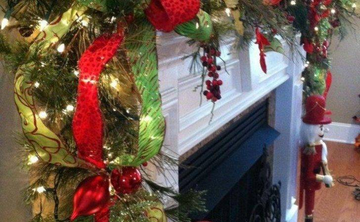 Beautiful Christmas Garland Fireplace Mantle