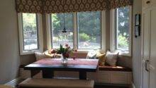 Beautiful Ikat Roman Shades Liven Kitchen Nook