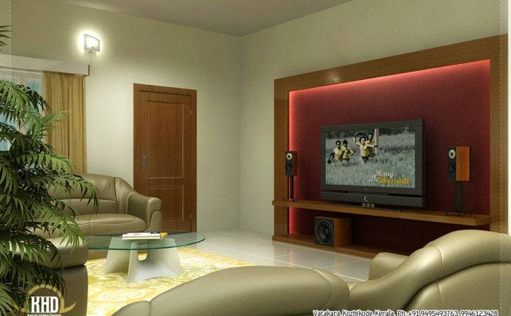 Beautiful Living Room Rendering Kerala Home Design