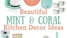 Beautiful Mint Coral Kitchen Decor Ideas Texas