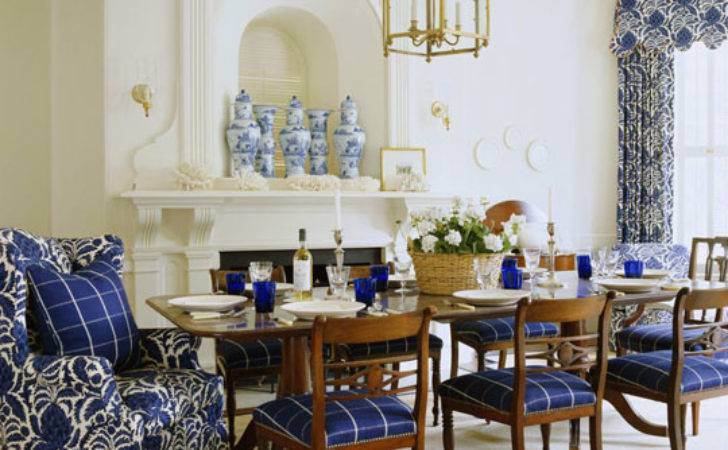 Beautiful Rooms Blue White Traditional Home