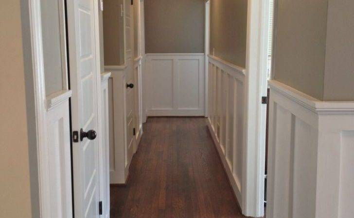 Beautiful Wainscoting Crown Molding Hallway