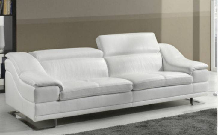 Beautiful White Leather Sofas Your Living Room