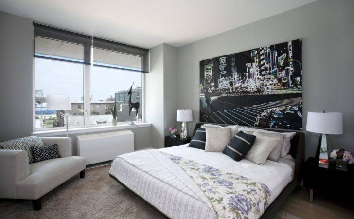 Bedroom Fetching White Gray