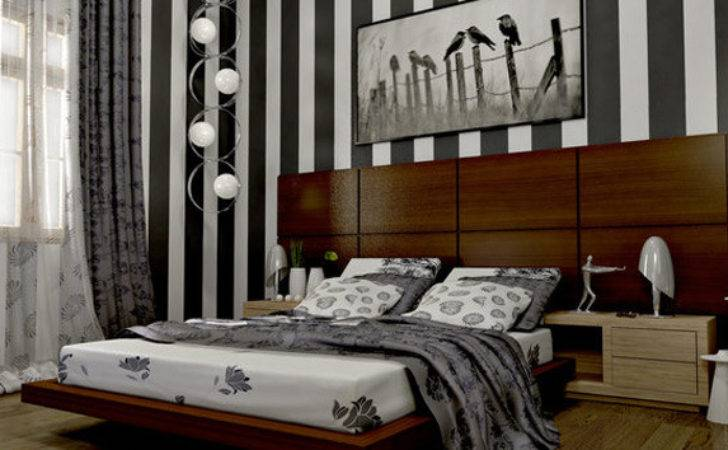 Bedroom Ideas Striped Walls Home Design Lover