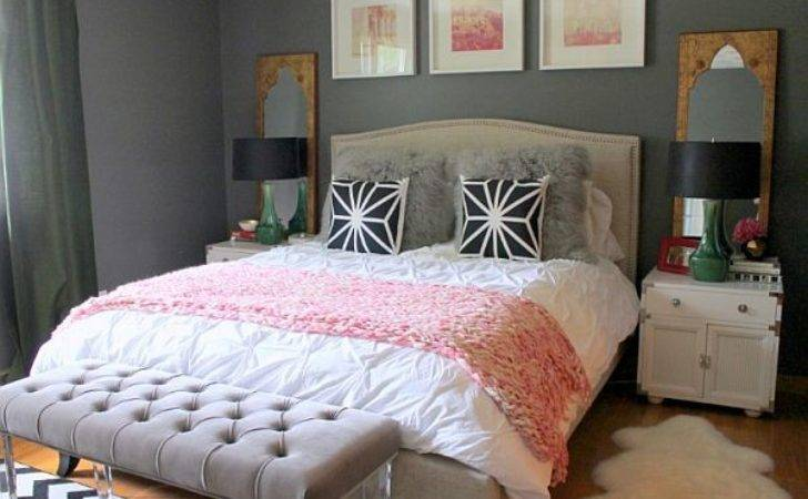 Bedroom Ideas Young Women Grey Bed Bench