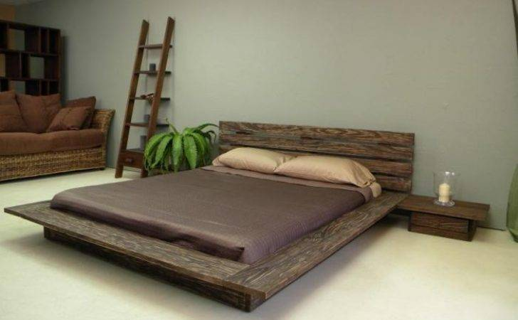 Bedroom Nice Leather Low Profile Bed Adjustable