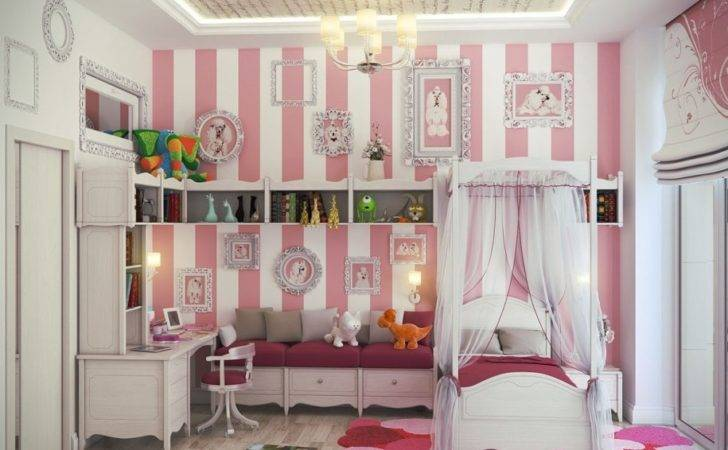 Bedroom Pink Luxurious Girls Design Country