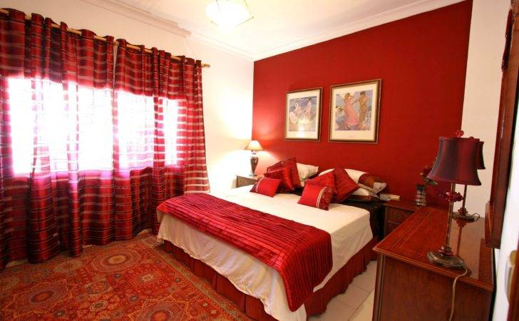 Bedroom Romantic Red White Ideas Home Decor