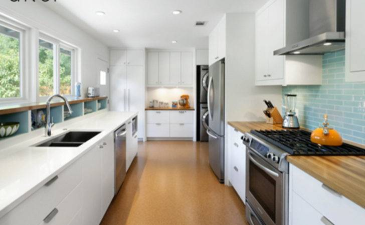 Before After Modern Galley Kitchen Design Bookmark