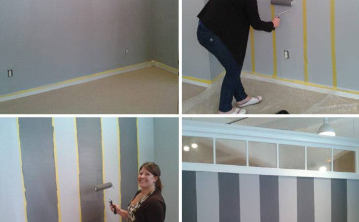 Before After Striped Wall Transformation Boston