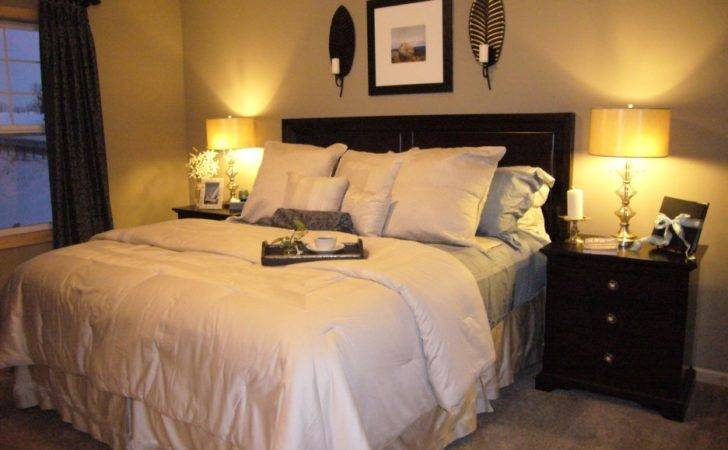 Beige Curtain White Painted Bedroom Wall Color