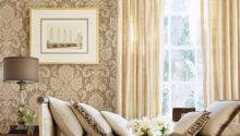 Beige Damask Living Room