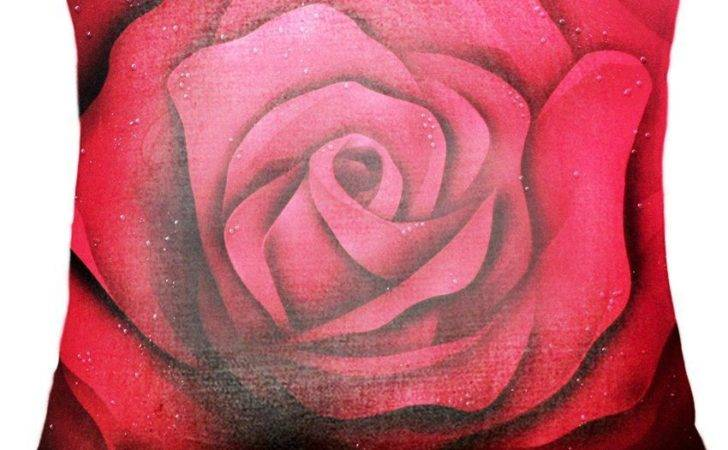 Belkado Red Rose Cushion Cover Best Price India