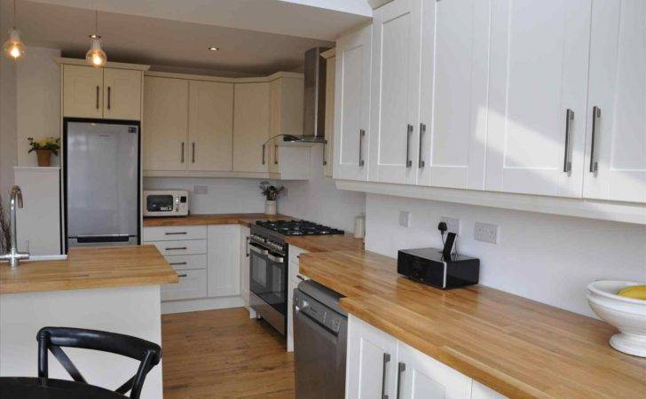 Bella White Kitchens Wooden Worktops Shaker Alabaster