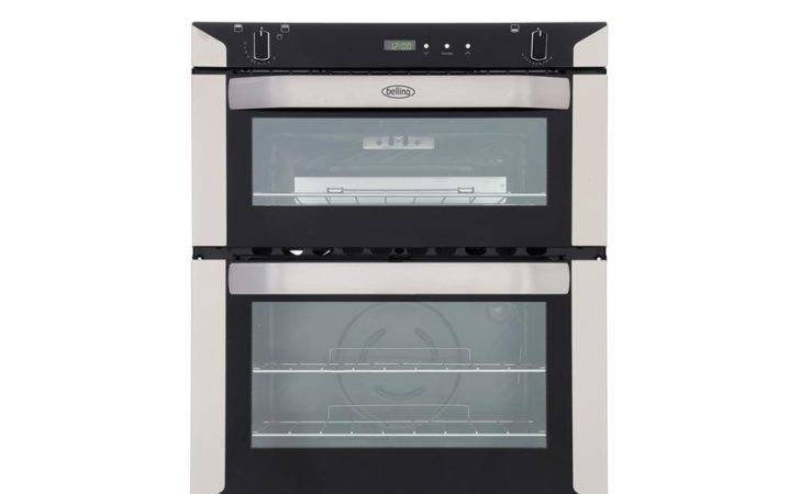 Belling Stainless Steel Double Built Under Gas Oven
