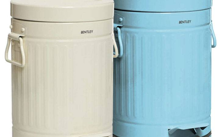 Bentley Home Retro Steel Pedal Waste Bin Buydirect