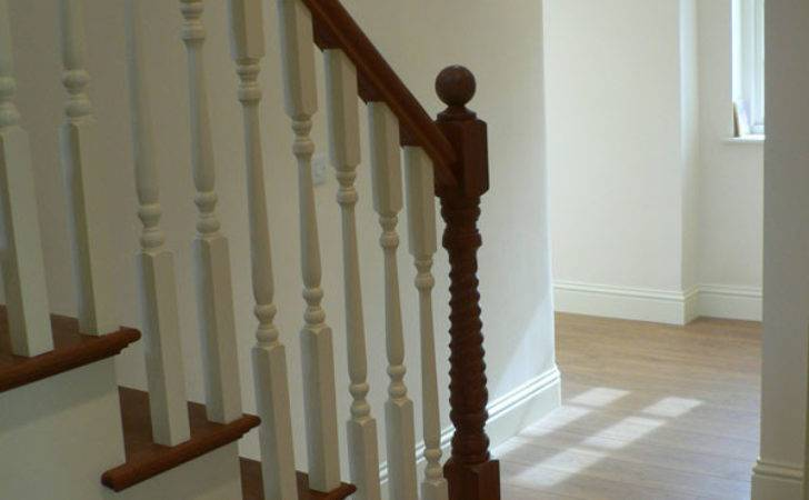 Bespoke Cut String Staircase White Hardwood Treads