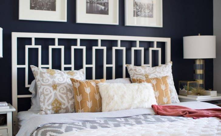 Best Navy Bedroom Wall Idea