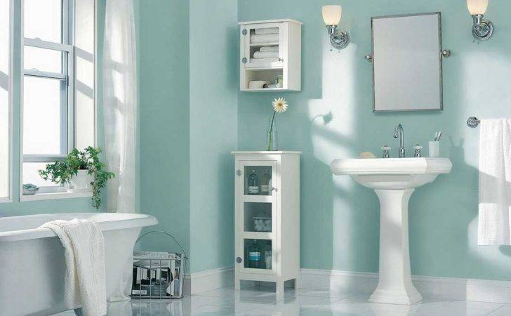 Best Paint Color Bathroom Using Light Blue Wall