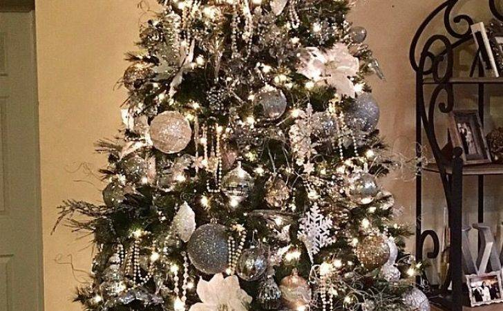 Best Silver Christmas Tree Ideas Pinterest White