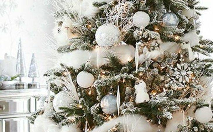 Best Silver Christmas Tree Ideas Pinterest