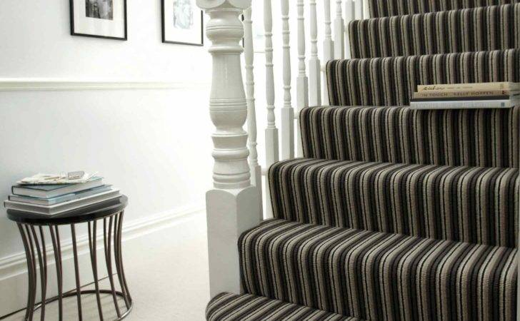 Best Striped Carpet Staircase Hallway Red Carpets