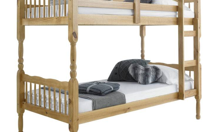 Betternowm Forest Solid Pine Wood Bunk Bed
