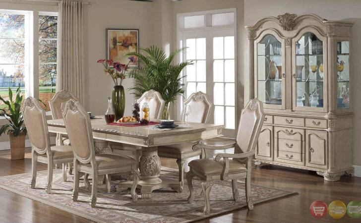 Betty Antique Traditional Light Wood Formal Dining Set