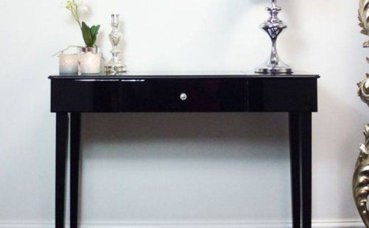 Black Glass Modern Console Table Beau Decor Furniture