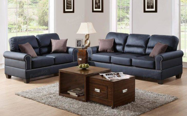Black Leather Sofa Loveseat Set Steal
