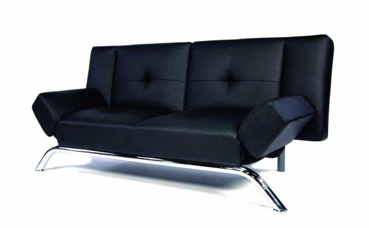 Black Leather Sofa Receiving Visitors Style