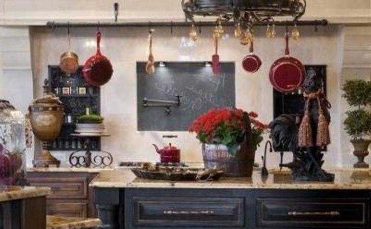 Black Round French Country Style Chandeliers Kitchen